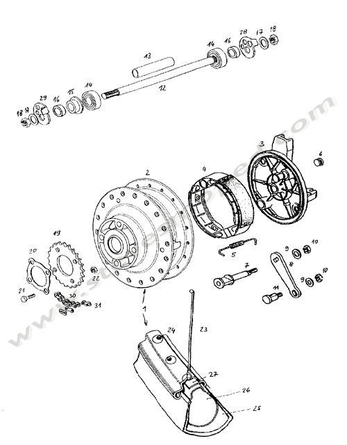 Catalogs / TOMOS REVIVAL A35 /REAR WHEEL [POST JANUARY 2002]